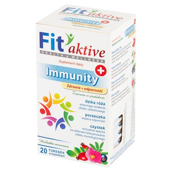 Fit aktive Immunity Suplement diety herbatka ziołowa 40 g (20 x 2 g)