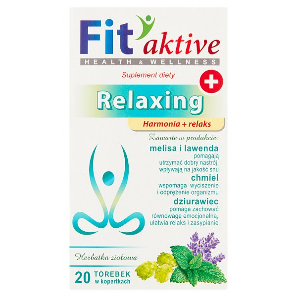 Fit aktive Relaxing Suplement diety herbatka ziołowa 40 g (20 x 2 g)