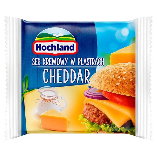 Hochland Ser kremowy Cheddar w plastrach 130 g