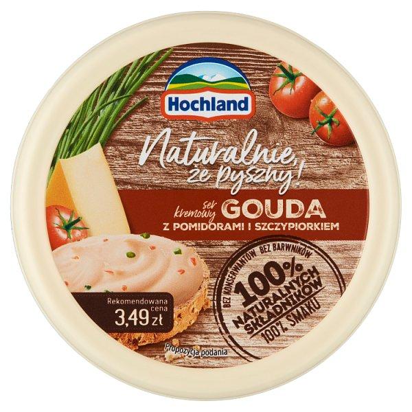Hochland Ser kremowy Gouda z pomidorami i szczypiorkiem 120 g