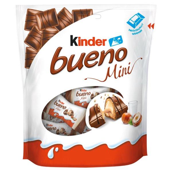 Kinder Bueno Mini Wafel w mlecznej czekoladzie wypełniony mleczno-orzechowym nadzieniem 108 g