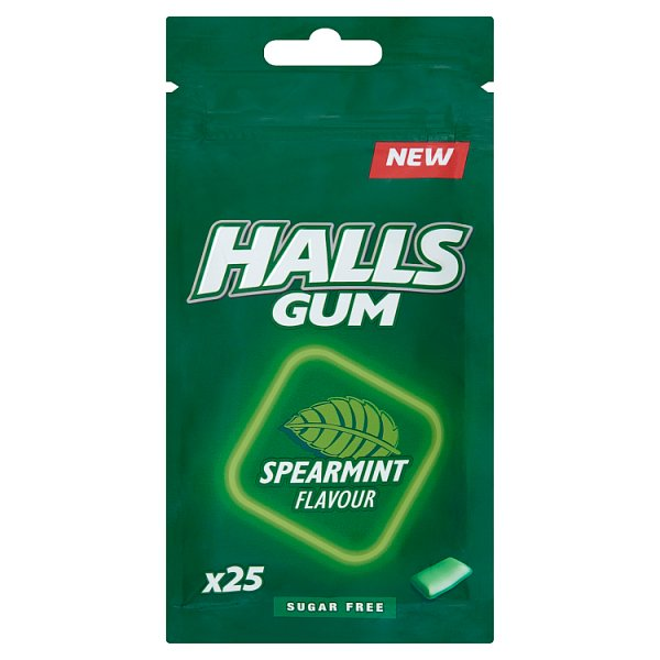 Halls Gum Guma do żucia bez cukru o smaku miętowym 36,5 g (25 sztuk)