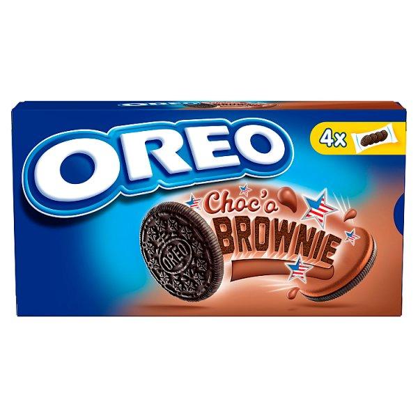 Oreo Ciastka kakaowe z nadzieniem o smaku ciasta Brownie 176 g (4 saszetki)