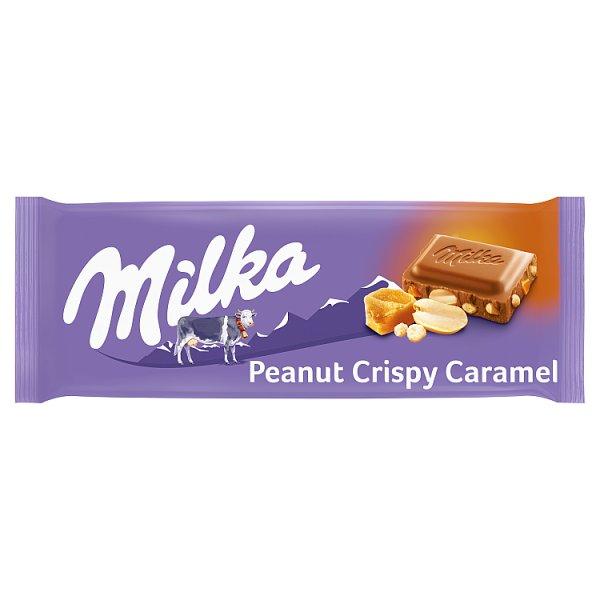 Milka Czekolada mleczna Peanut Crispy Caramel 90 g