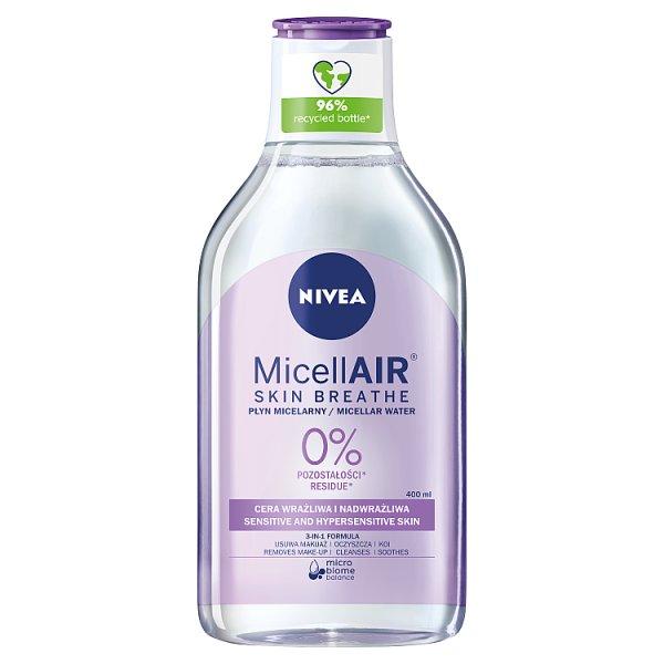 NIVEA MicellAir Skin Breathe Kojący płyn micelarny do cery wrażliwej i nadwrażliwej 400 ml