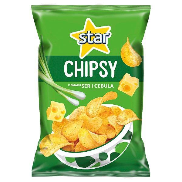 Star Chipsy o smaku ser i cebula 130 g