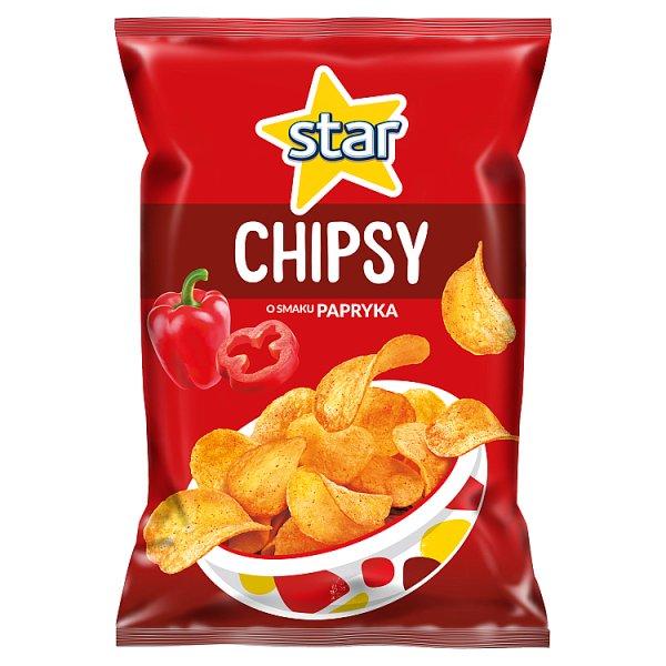 Star Chipsy o smaku papryka 130 g