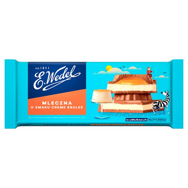 E. Wedel Czekolada mleczna o smaku deseru crrme brulee 289 g
