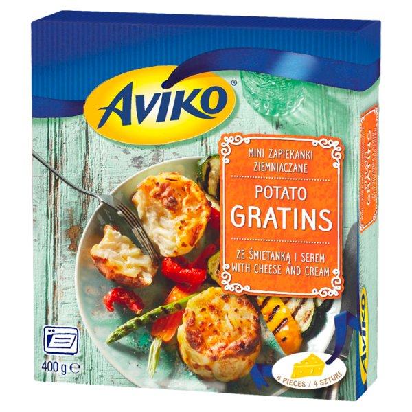 Aviko Mini zapiekanki ziemniaczane ze śmietanką i serem 400 g (4 sztuki)