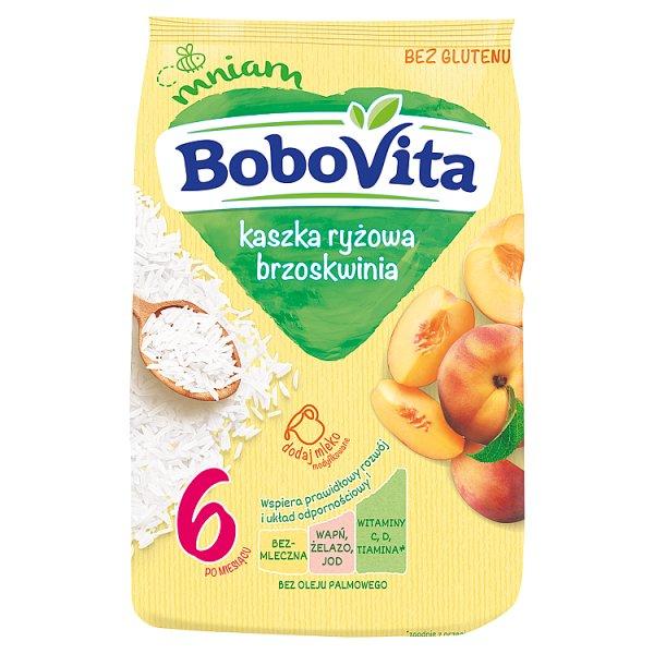 BoboVita Kaszka ryżowa brzoskwinia po 6. miesiącu 180 g