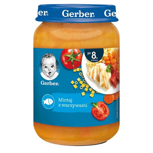 Gerber Mintaj z warzywami dla niemowląt po 8. miesiącu 190 g