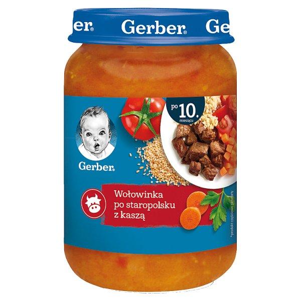 Gerber Wołowinka po staropolsku z kaszą dla niemowląt po 10. miesiącu 190 g