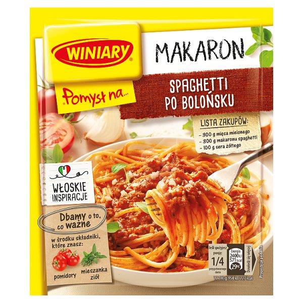 Winiary Pomysł na... Makaron spaghetti po bolońsku 44 g