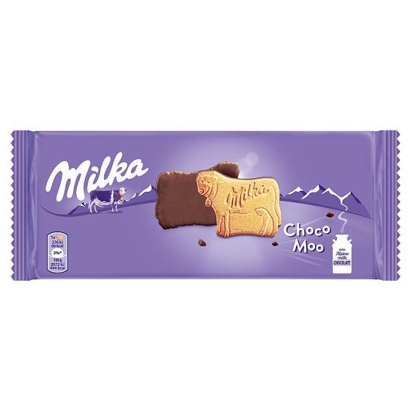 Milka Choco Moo Ciastka oblane czekoladą mleczną z mleka alpejskiego 120 g