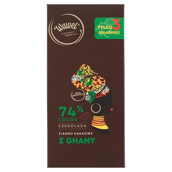 Wawel Czekolada 74% cocoa ziarno kakaowe z Ghany 100 g