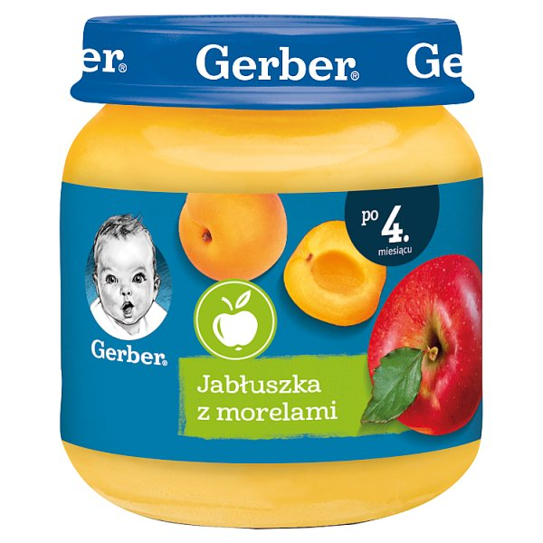 Gerber Jabłuszka z morelami dla niemowląt po 4. miesiącu 125 g