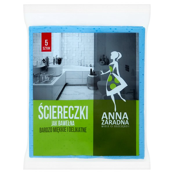 Anna Zaradna Ściereczki jak bawełna 5 sztuk