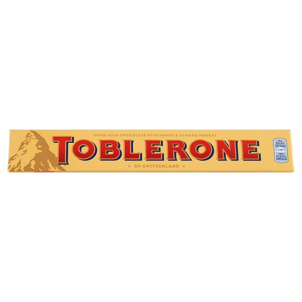 Toblerone Szwajcarska czekolada mleczna z nugatem miodowo-migdałowym 100 g