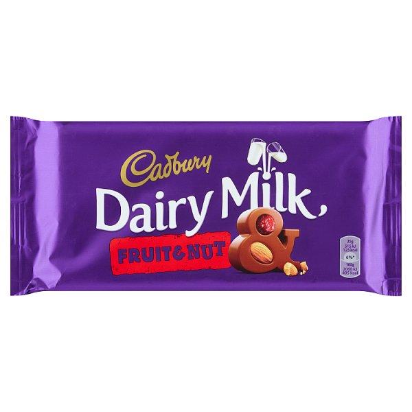 Cadbury Czekolada mleczna familijna z suszonymi winogronami i migdałami 200 g