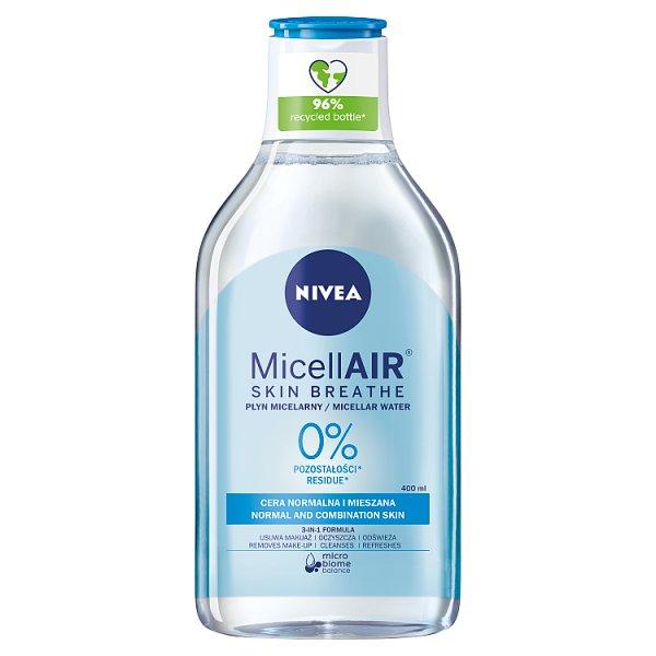 NIVEA MicellAir Skin Breathe Odświeżający płyn micelarny do cery normalnej i mieszanej 400 ml
