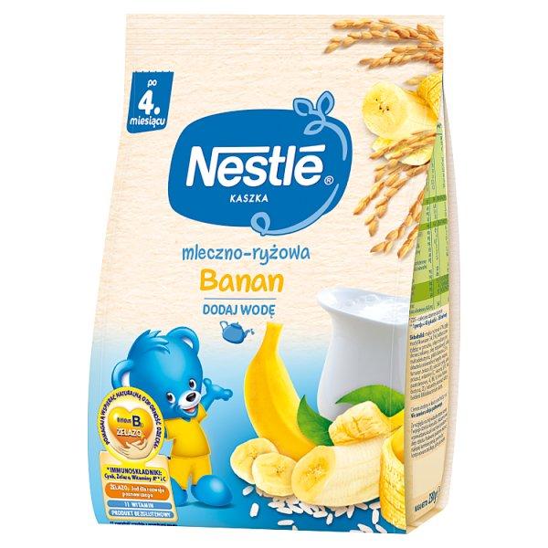 Nestlé Kaszka mleczno-ryżowa banan dla niemowląt po 4. miesiącu 230 g