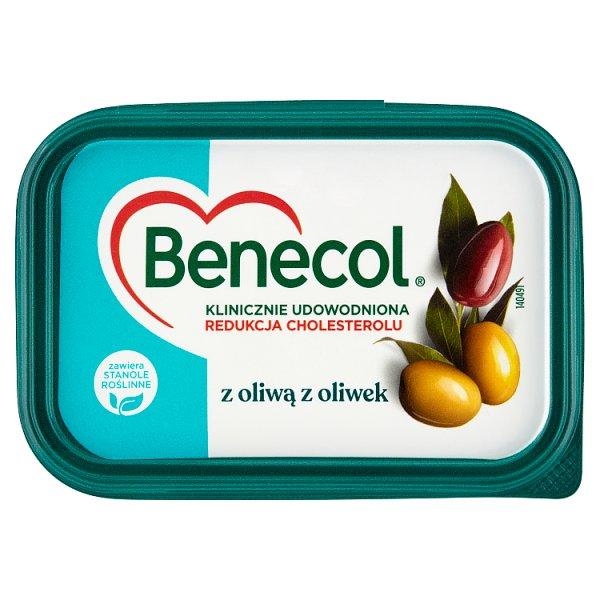Benecol Tłuszcz do smarowania z dodatkiem stanoli roślinnych z oliwą z oliwek 225 g