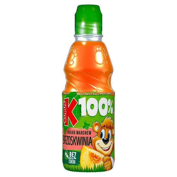 Kubuś 100% Sok jabłko marchew brzoskwinia 300 ml