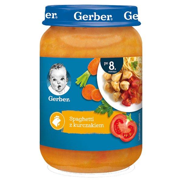 Gerber Spaghetti z kurczakiem dla niemowląt po 8. miesiącu 190 g