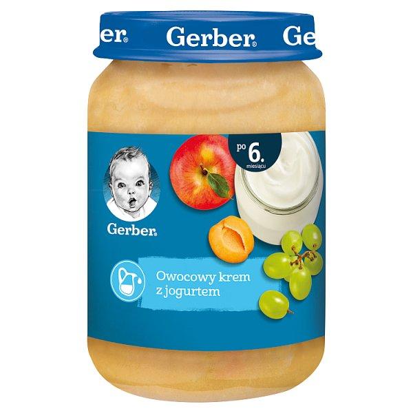 Gerber Owocowy krem z jogurtem dla niemowląt po 6. miesiącu 190 g