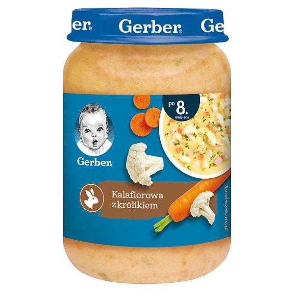 Gerber Kalafiorowa z królikiem dla niemowląt po 8. miesiącu 190 g