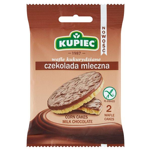 Kupiec Wafle kukurydziane czekolada mleczna 28 g (2 sztuki)