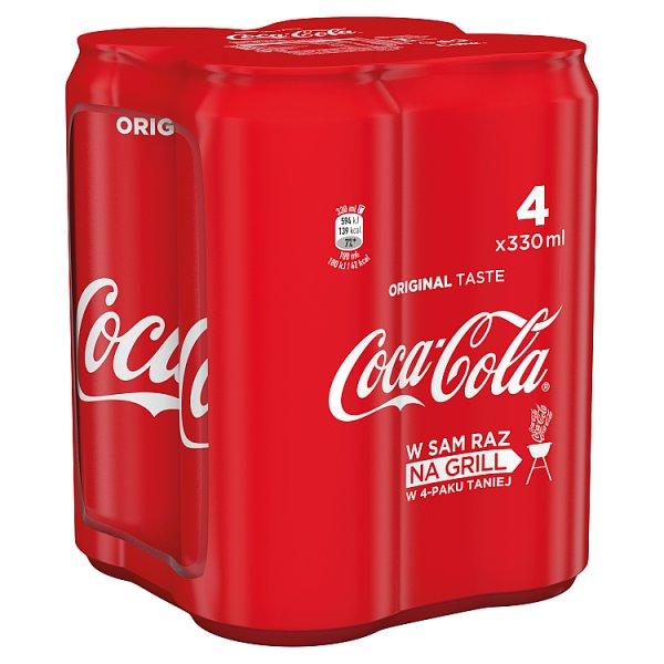 Coca-Cola Napój gazowany 4 x 330 ml