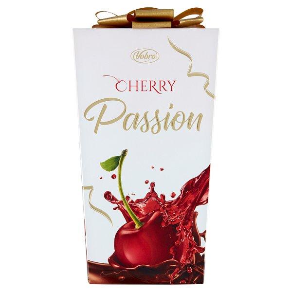 Vobro Cherry Passion Czekoladki nadziewane wiśnią w alkoholu 210 g