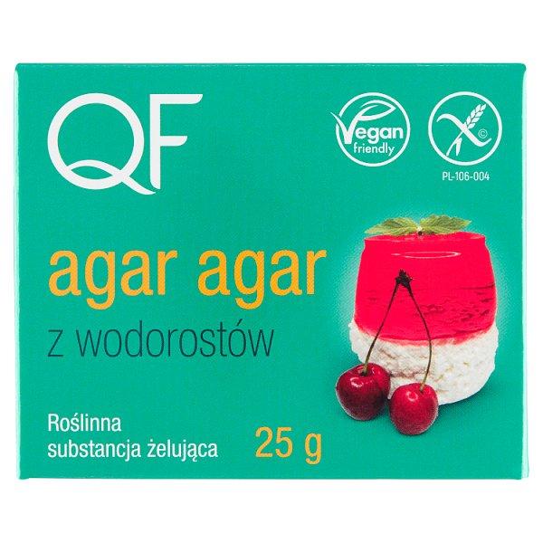 QF Roślinna substancja żelująca agar agar z wodorostów 25 g