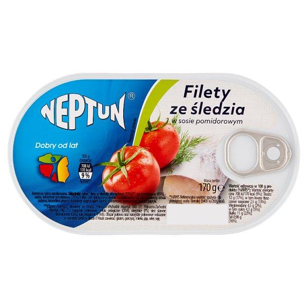 Neptun Filety ze śledzia w sosie pomidorowym 170 g