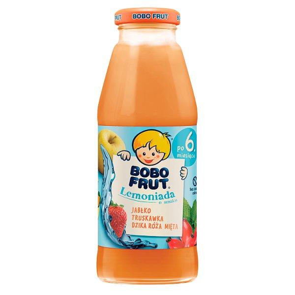 Bobo Frut Lemoniada jabłko truskawka dzika róża mięta dla niemowląt po 6. miesiącu 300 ml