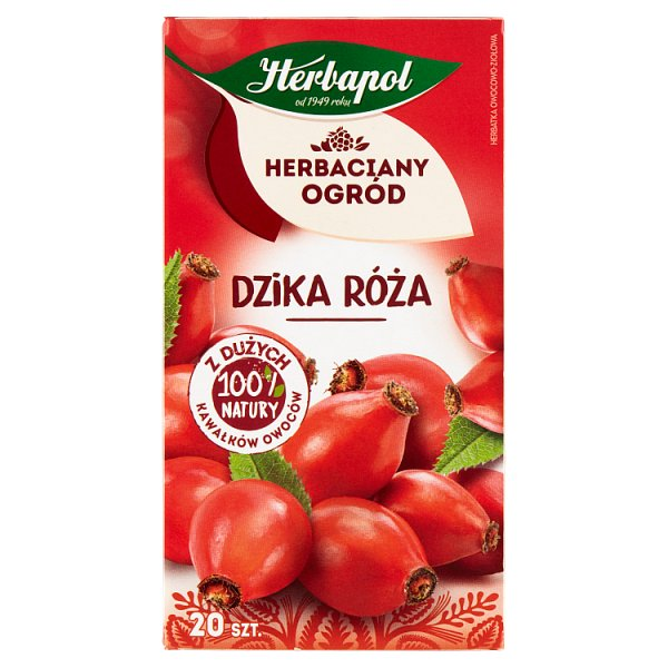 Herbapol Herbaciany Ogród Herbatka owocowo-ziołowa dzika róża 70 g (20 x 3,5 g)