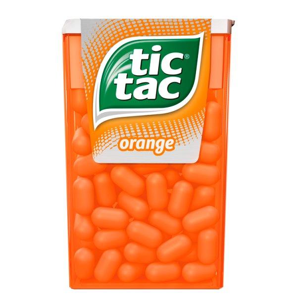 Tic Tac Drażetki o smaku pomarańczowym 49 g