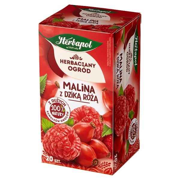 Herbapol Herbaciany Ogród Herbatka owocowo-ziołowa malina z dzika różą 54 g (20 x 2,7 g)