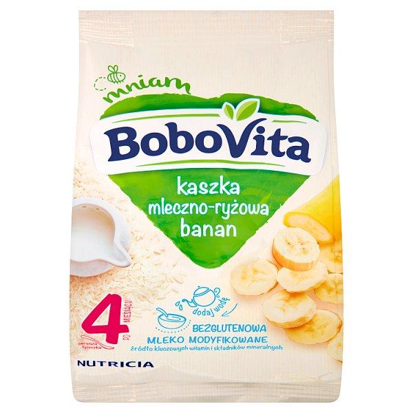 BoboVita Kaszka mleczno-ryżowa banan po 4. miesiącu 230 g