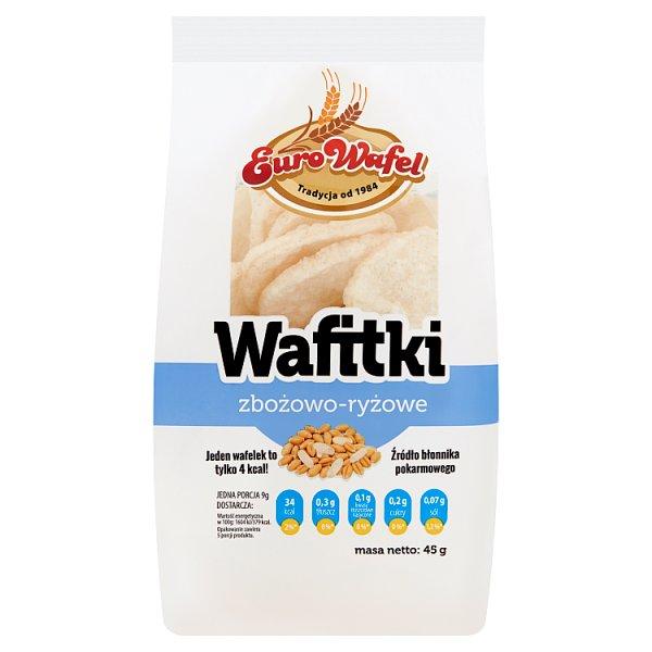 Eurowafel Wafitki zbożowo-ryżowe 45 g