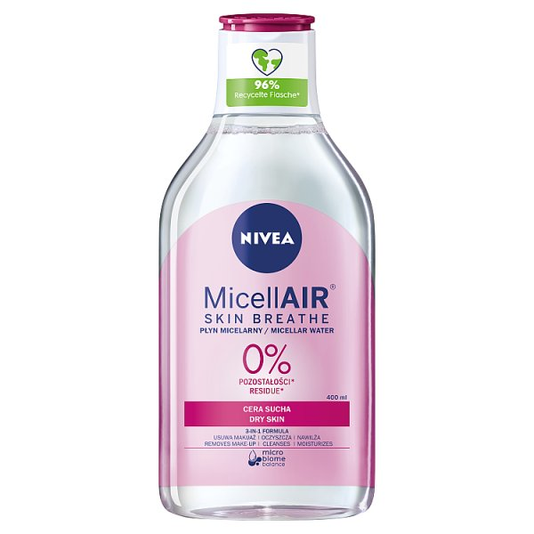 NIVEA MicellAir Skin Breathe Pielęgnujący płyn micelarny do cery suchej 400 ml