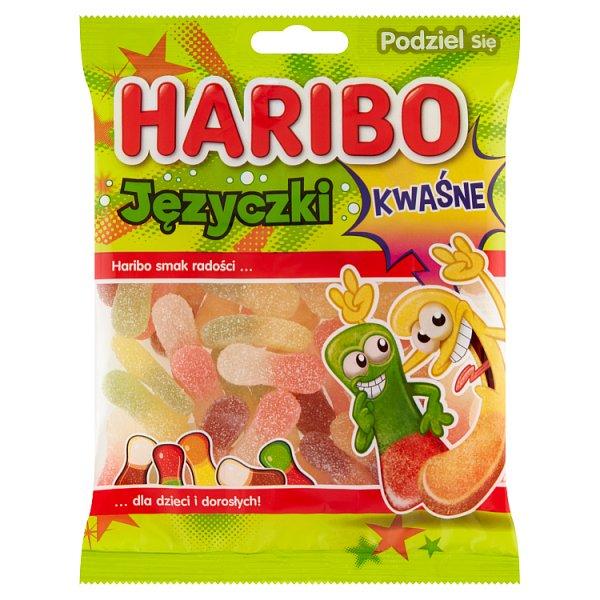 Haribo Języczki Żelki o smaku owocowym kwaśne 175 g