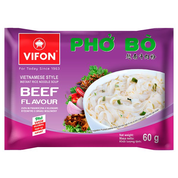 Vifon Wietnamska zupa Pho Bo o smaku wołowiny 60 g