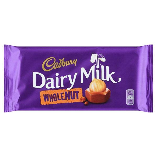 Cadbury Czekolada mleczna familijna z całymi orzechami laskowymi 200 g