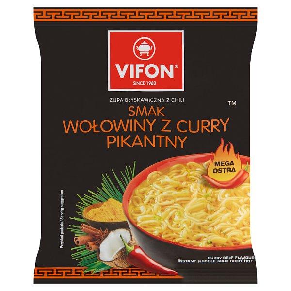 Vifon Zupa błyskawiczna smak wołowiny z curry pikantny 70 g