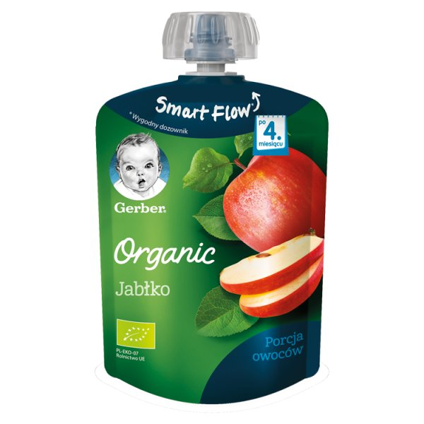 Gerber Organic Deserek Jabłko dla niemowląt po 4. miesiącu 90 g