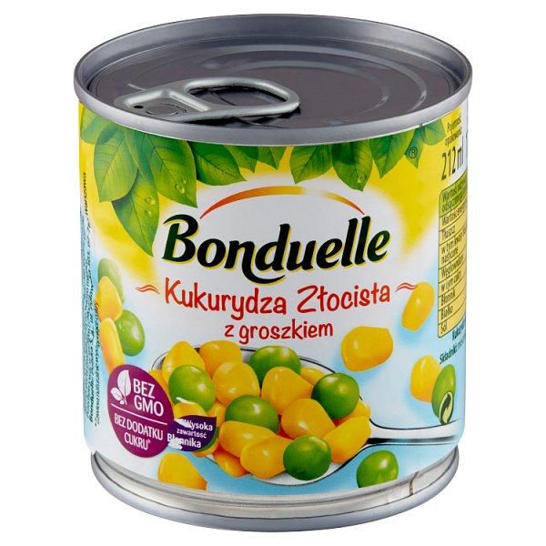 Bonduelle Kukurydza Złocista z groszkiem 170 g