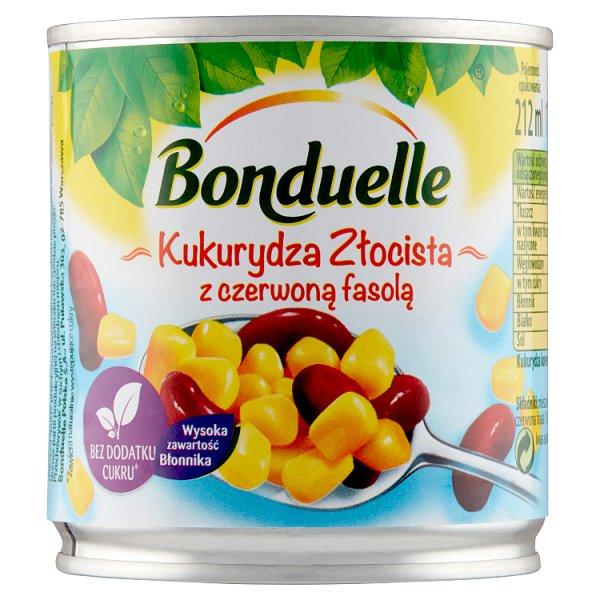 Bonduelle Kukurydza Złocista z czerwoną fasolą 170 g