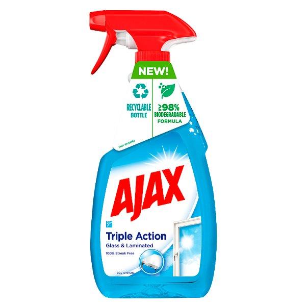 Ajax Triple Action Płyn do czyszczenia szyb 500 ml